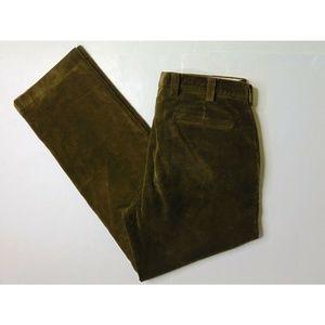 Orvis 36 x 32 Dark Brown Thick Corduroy Pants